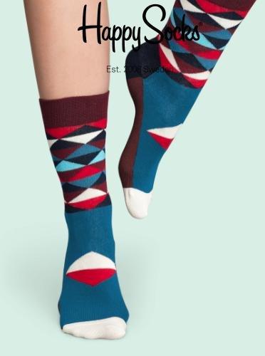[Happy Socks] 15% extra Rabatt auf Sale + gratis Versand, z.B. gemusterte Socken für 4,76€ statt 7,90€