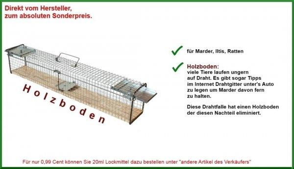 116cm Tierfalle - Lebendfalle - Kaninchenfalle Marderfalle Drahtfalle Iltisfalle für 24,90 inkl.