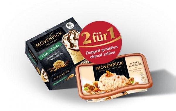 2x Mövenpick Eis kaufen & das Günstigere gratis bekommen 850/900 ml Sorten [+ 1€ Scondoo][Lokal EDEKA Südwest]