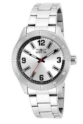 [Amazon] Invicta Herren Armbanduhr Analogquarz Edelstahl (Farbe Silber) #17925 für 34,44 statt 78,95