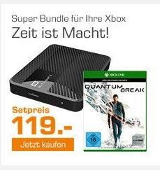[Saturn] Quantum Break - Xbox One + Western Digital Externe Festplatte 6.35 cm (2.5 Zoll) 2 TB My Passport® X Schwarz USB 3.0 für zusammen 119,-€