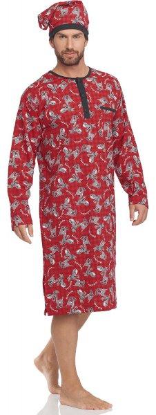 Herren Nachthemd mit Schlafmütze von Cornette @ Amazon