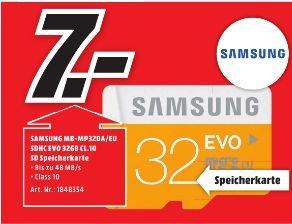 [Lokal Mediamarkt Porta Westfalica] Samsung EVO microSDHC 32GB UHS-I U1 (MB-MP32DA)  für 7,-€
