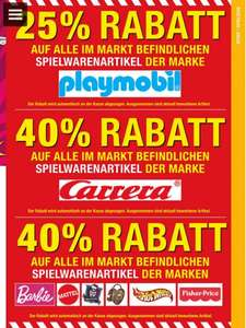 METRO 40% auf Spielwaren von Barbie, Mattel, Carrera, Hot-wheels, Fisher Price, Monster High, Ever After High  & 25% auf Playmobil