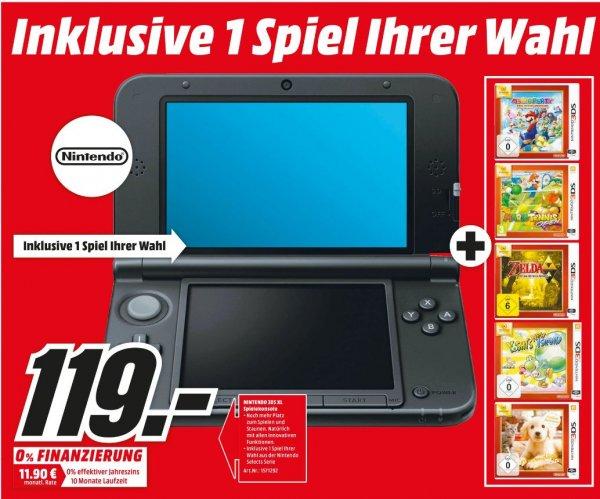 [Lokal Mediamarkt Homburg] Nintendo 3DS XL  inc. 1 Spiel aus der Nintendo Select Serie.Zb. Zelda oder Mario Party Island Tour für 119,-€