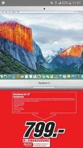 "[mediamarkt Chemnitz]MacBook Air 13"" 799€ pvg min. 880€ (aber andere Sp-Nr.)"