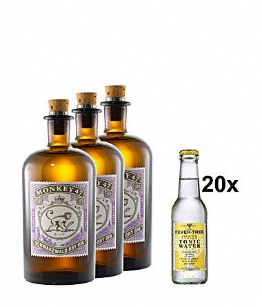 """[Gourmondo] 3xMonkey 47 und 20xFever-Tree Tonic Water mit Gutscheincode """"welcome"""" noch 10% günstiger für insgesamt nur 88,83 €"""
