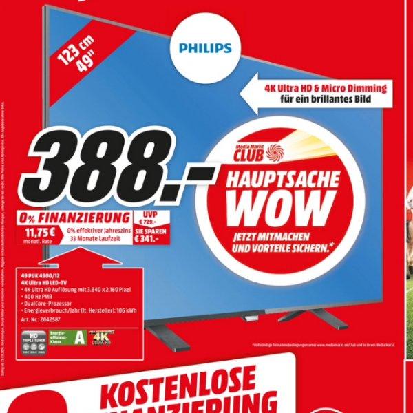 Philips 49 PUK 4900/12 UHD TV Mediamarkt Stuttgart