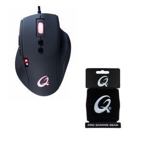 [notebooksbilliger] QPAD 8K Pro optische Gaming Maus, 7 programmierbare Tasten inkl. QPAD Schweissband
