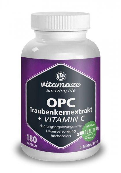 [AMAZON Prime] Vitamaze OPC Traubenkernextrakt mit Vitamin C für 2€ statt 17,87€