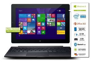 [Amazon.de-Whd] Odys Winpad V10 2in1 25,7 cm (10,1 Zoll) Convertible Tablet-PC (Intel Atom Quadcore Z3735F, 1,83GHz, 2GB RAM, 32GB HDD, Win 8.1 Office 365 Personel, HD IPS Display, Bluetooth 4.0, Micro HDMI, Micro USB, Micro SD) schwarz