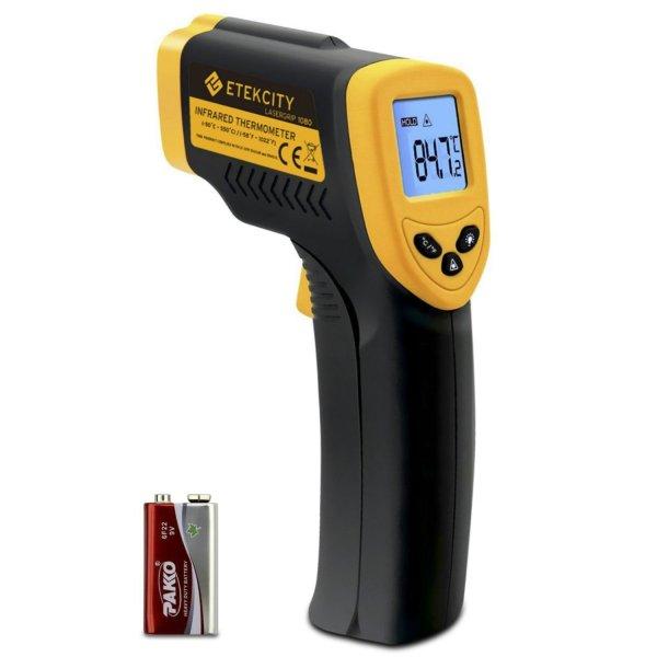 @Amazon: Digital Laser Infrarot Thermometer Pyrometer (- 50 bis + 550 °C, LCD Beleuchtung, Zertifikat: CE, RoHS) von Etekcity ab 16,78€ mit Prime