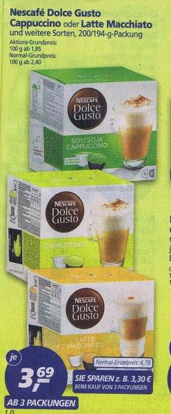 [Real]  Nescafe Dolce Gusto Kapseln im Angebot für 3,69€ beim Kauf ab 3 Packungen