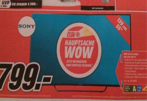 [Lokal ] Sony KD 55 x 8005 Media Markt Fellbach/Waiblingen
