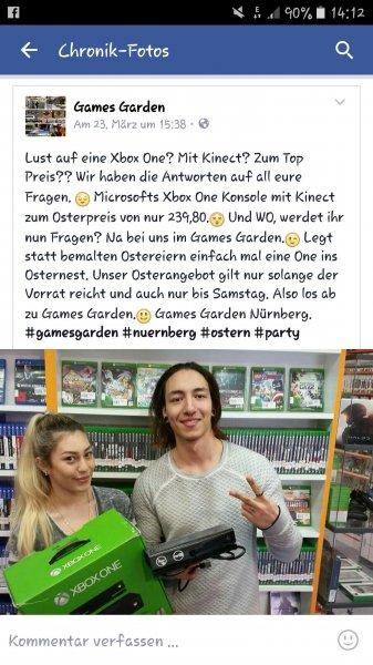 [Nürnberg] [games Garden] xbox one mit Kinect