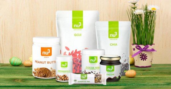 25% auf alle Produkte von nu3 & Beavita - Nur am Ostersonntag!