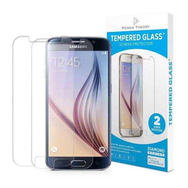 [AMAZON Prime] Power Theory 2er Pack Japanisches 9H Hartglas für iPhone 5/5S   6/6S PLUS + oder Samsung Galaxy S5/S6