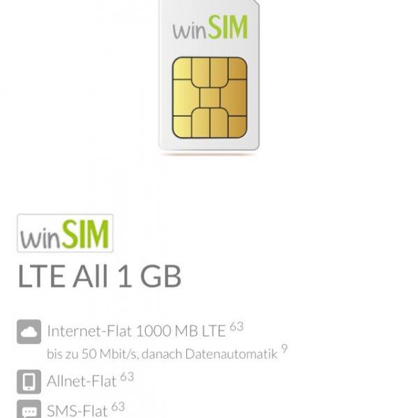 Günstiger Sim only Tarif für 6,99 Allnet Flat, SMS Flat und 1 GB LTE Datenvolumen auf deinhandy.de MONATLICH kündbar