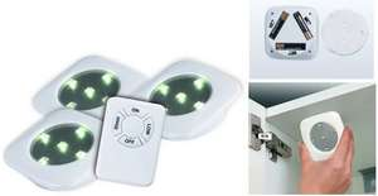EASYMAXX LED Unterbauleuchten Spots LED Leuchten mit Fernbedienung EUR 16,99/Ebay