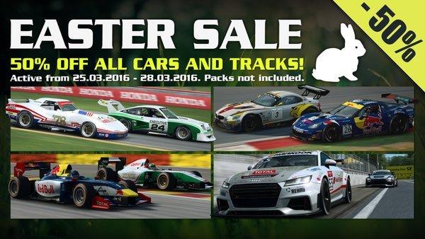RaceRoom Racing Experience R3E Easter Sale: 50% auf einzelne Autos und Strecken