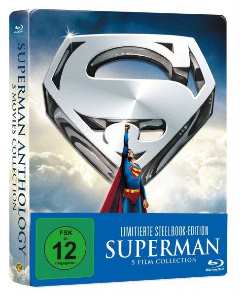 Superman 1-5 Die Spielfilm Edition Steelbook bei Amazon 26,99 Euro