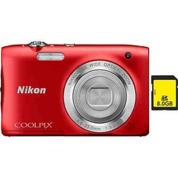 NIKON Coolpix S2900 + 8GB SD-Karte Kompakt Kamera, 8 GB, 20,1 Megapixel, 5x opt. Zoom [OTTO]
