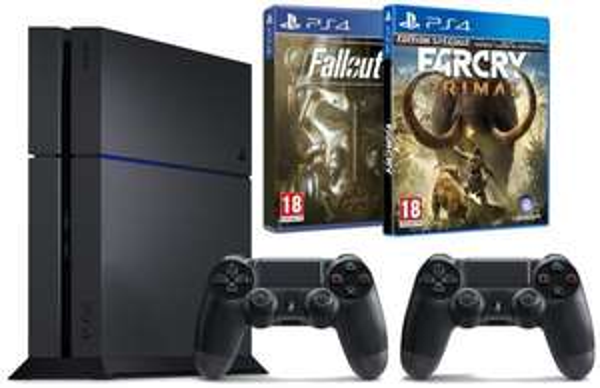 [Amazon.fr] PS4 1TB + 2. Controller + Far Cry Primal + Fallout 4 für 404,71€