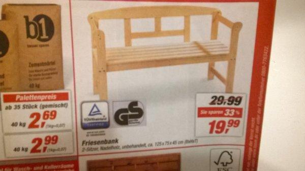 [toom] Gartenbank 2-Sitzer für 19,99€