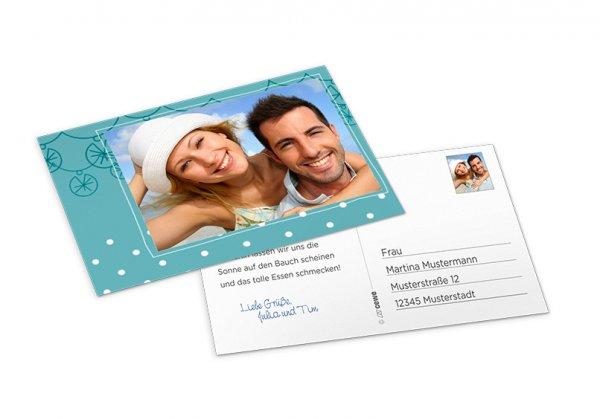 1 Postkarte Klassik mit Direktversand an Empfänger gratis!
