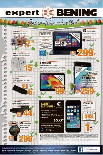 [Expert Bening] Lokal Norddeutschland - Samsung Galaxy Tab 4 7.0 Wifi für 99,- Euro