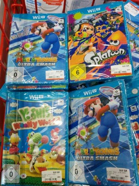 Media Markt OL Wii U Woolly World, Mario Tennis, Splatoon, Smash Brothers 29,- euro