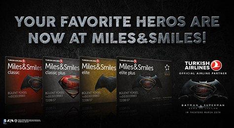 (Miles and Smiles) Batman v Superman kostenlose Meilenkarte von Turkish Airlines