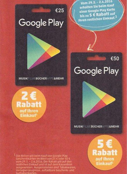 [Penny] 29.03. bis 02.04.2016 - Bis zu 5 € sparen beim Kauf einer Google Play Karte