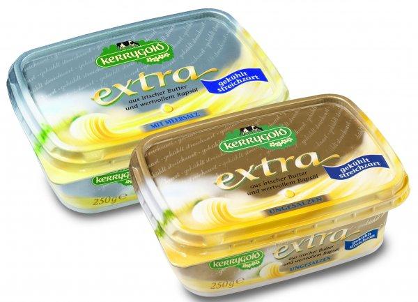 Ab Donnerstag Kerrygold Extra Irische Butter gesalzen oder ungesalzen 150g Becher 0,75€ bei Penny