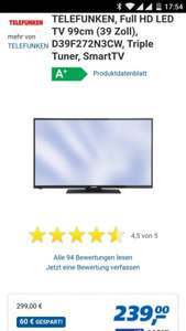 Telefunken D39F275N3CW 39Zoll LED TV @REAL