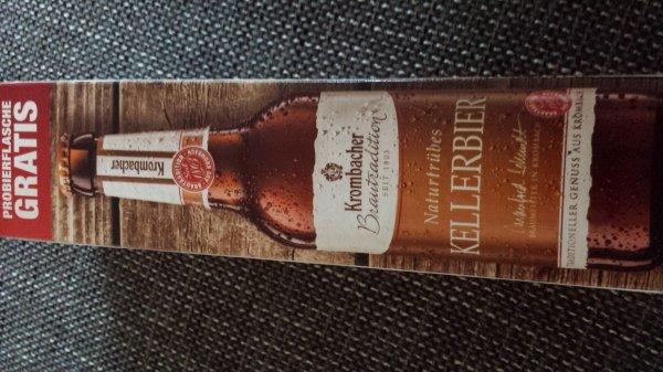lokal edeka Isselmarkt Recklinghausen Flasche  Krombacher Kellerbier