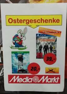 [Lokal][Media Markt Dortmund] Tom Clancy`s The Division PS4 39 Euro / Star Wars Battlefront Xbox One 20 Euro