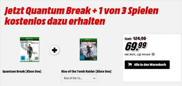 [MM Online] Quantum Break + Rise of The Tomb Raider oder Halo 5 oder Forza 6 für Xbox One für 69,99€