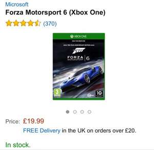 Forza Motorsport 6 (Xbox One)  ca. 29€ inkl. Versand. (Amazon.co.uk)