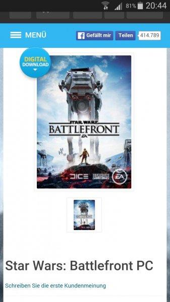 Star wars battlefront origin key @cdkeys.com