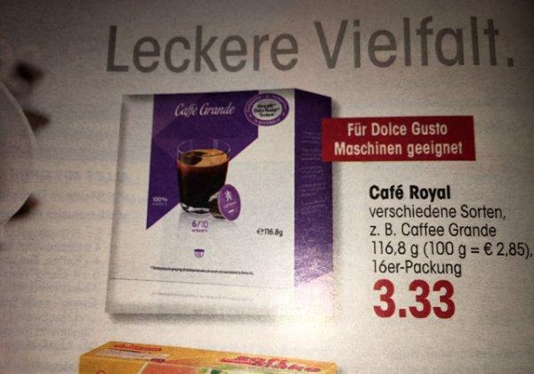 Nachgemachte Dolce Gusto Kapseln für 3,33€ bei Edeka