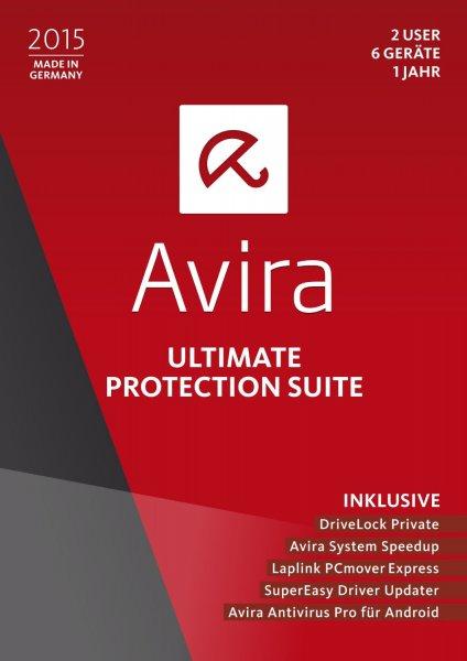 [Amazon Prime] Avira Ultimate Protection Suite 2015 - 2 User / 6 Geräte / 1 Jahr