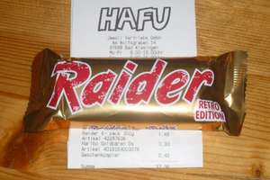[lokal Hafu Bad Kissingen - bundesweit?] Raider Retro Edition - Schokolade Keks Riegel - 6x2St/300g - Twix €1,49
