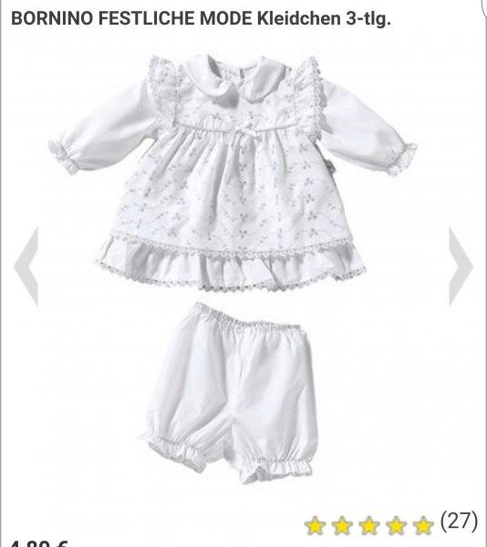 ABGELAUFEN [BABY-WALZ(ONLINE)] BORNINO-FESTLICHE-MODE-Kleidchen 3-tlg (nur noch in Größe 80!)für 4.80€ (statt 24.99€)+1.95€ Versand