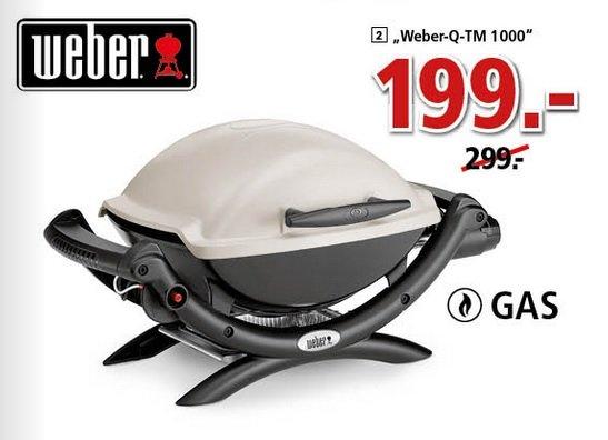 [Segmüller] Weber Q1000 Gasgrill für 199€ (zusätzlich 25€ Gutschein oder Bauhaus TPG möglich) idealo: 226€