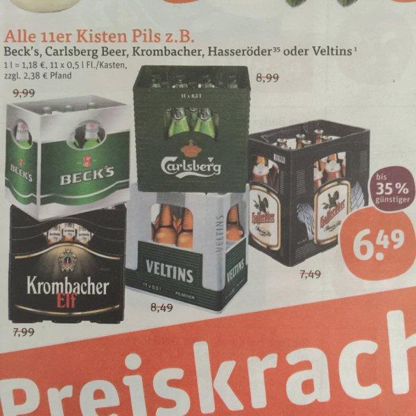 [Tegut] Carlsberg Bier 11x0,5l