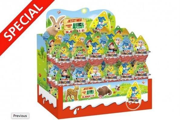 Komplettes Oster-Display mit 72 KINDER Ü-Eiern für 30,00 €