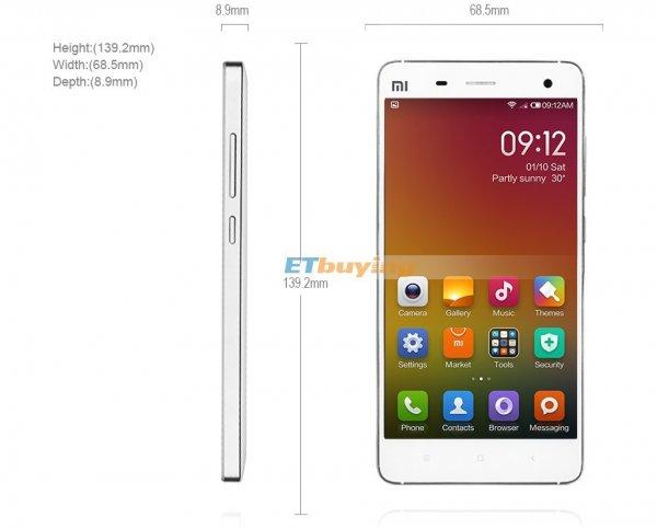 Original Xiaomi Mi4 4G LTE Handy Snapdragon 801 Quad Core 2 GB RAM 16 GB ROM