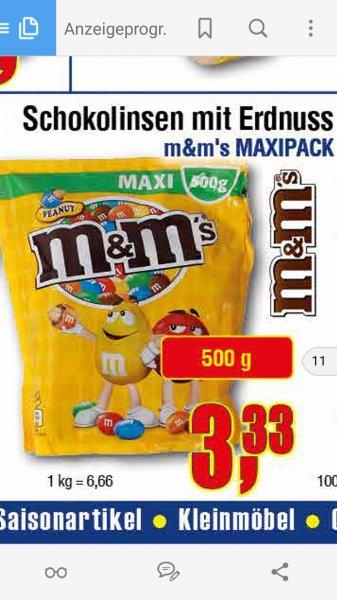 m&m's 1/2 Kilo für 3,33€ [Center Shop ab 4.4.]