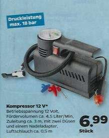 Kompressor 12V  6,99€  Netto (mit Hund) ab 31.03.2016